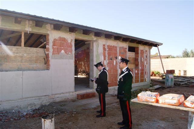 Terrasini, una casa all'interno della riserva di Capo Rama, sequestro dei carabinieri