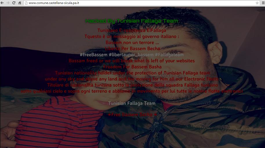 Il sito del comune di Castellana Sicula bloccato da un gruppo di terroristi informatici