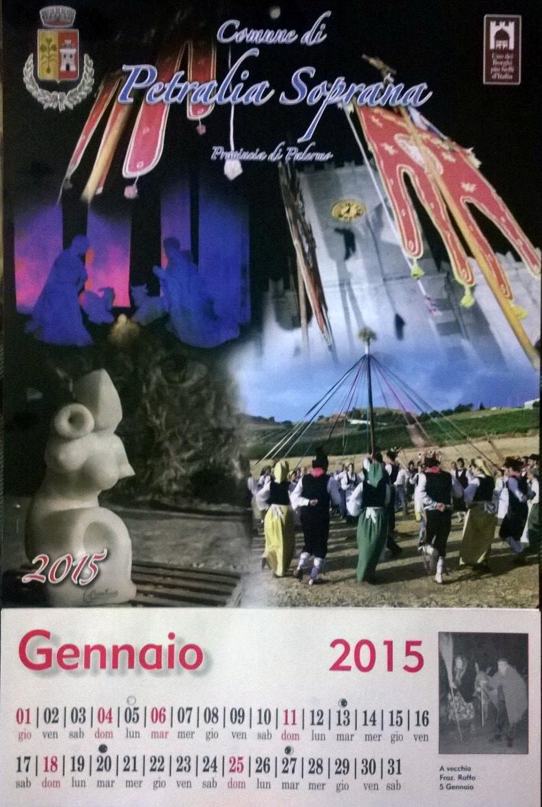 Petralia Soprana, un calendario per segnalare tutti gli eventi del 2015