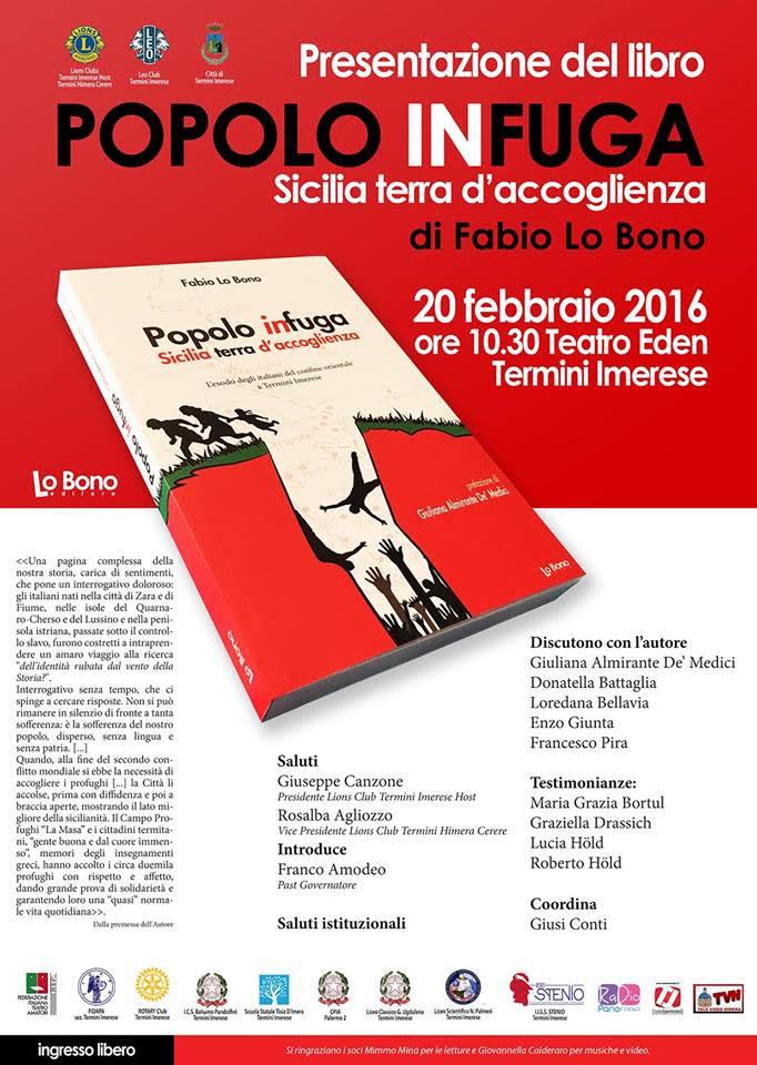 """Termini Imerese, sabato 20 febbraio presentazione del libro di Fabio Lo Bono """"Popolo in fuga"""""""