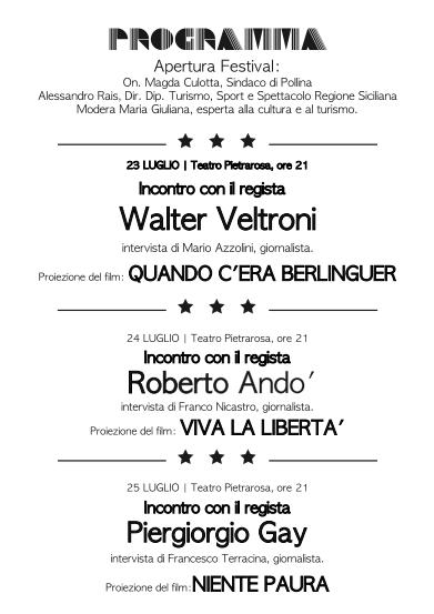 Pollina FilmFest, si comincia con Walter Veltroni: Quando c'era Berlinguer