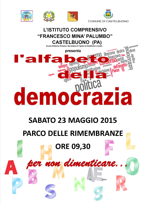 """A Castelbuono """"L'alfabeto della democrazia"""" per ricordare la strage di Capaci"""