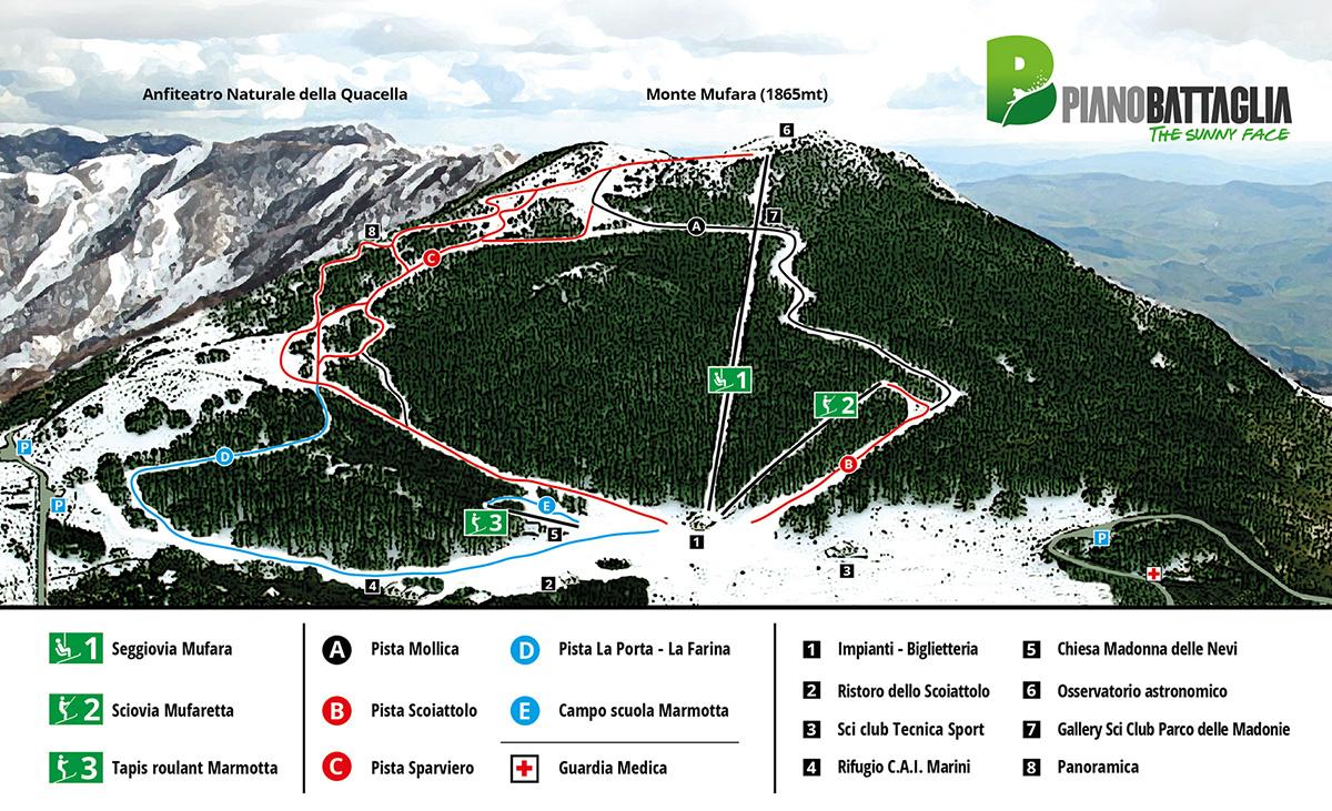 Piano Battaglia, l'attesa è finita: si torna a sciare! Intanto ecco la nuova mappa delle piste