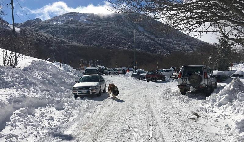"""Madonie sotto la neve: """"Evitate di mettervi in viaggio"""""""