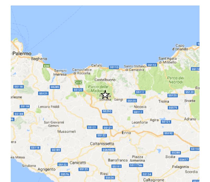 Terremoto nelle alte Madonie, epicentro a Petralia