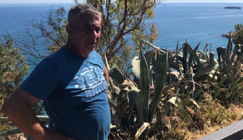 Termini, ex consigliere comunale ripulisce l'area del Belvedere