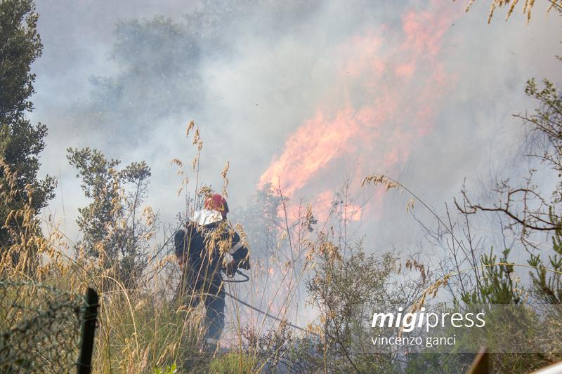 Bruciano le Madonie, due incendi a Collesano