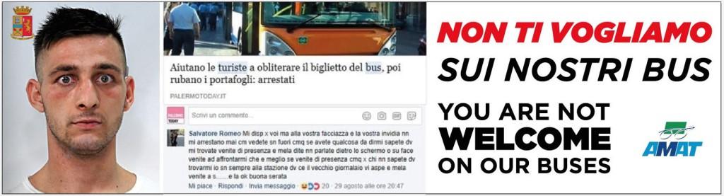 """Borseggiatore si vanta su Facebook, l'Amat: """"Sui nostri bus non ti vogliamo"""""""