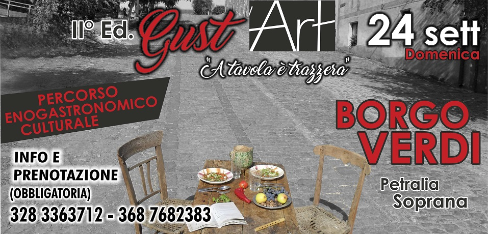 "Degustazioni, musica e arte: a Borgo Verdi ""Gust'Art – A tavula è trazzera"""