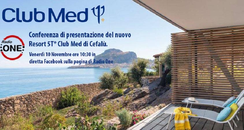 Resort Club Med, domani la presentazione da Cefalù in diretta su Facebook