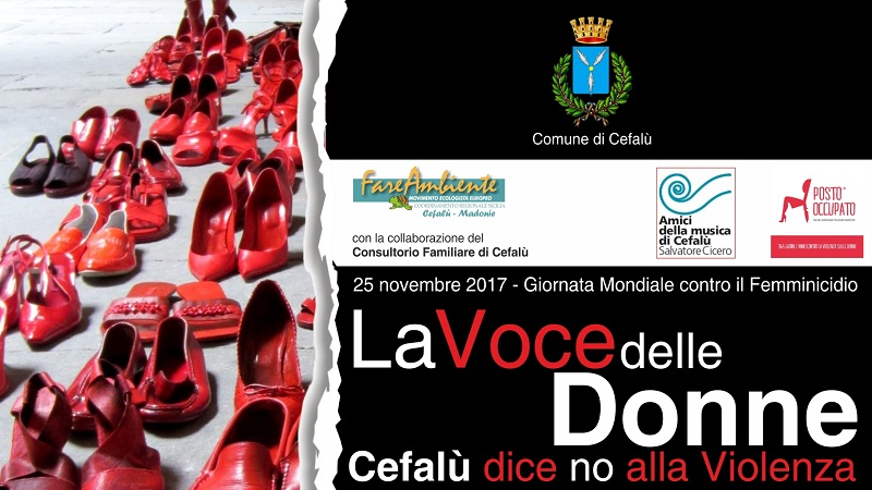 """""""La voce delle donne"""", a Cefalù la Giornata Mondiale contro il femminicidio – PROGRAMMA"""