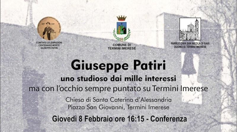 Tornano i seminari su Giuseppe Patiri, lo studioso che amava Termini Imerese
