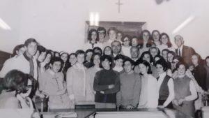 1968, i primi alunni dell'Istituto