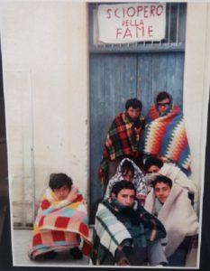 Alunni durante lo sciopero della fame