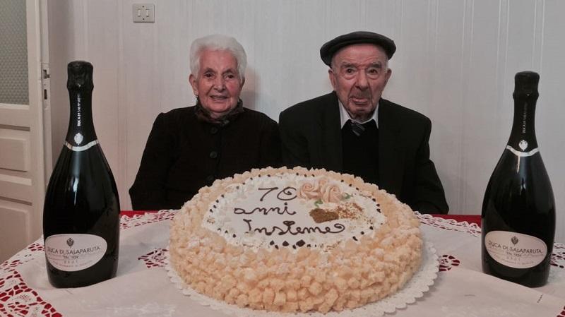 70 anni di vita insieme: grande festa a Gangi per Giuseppe e Carmela