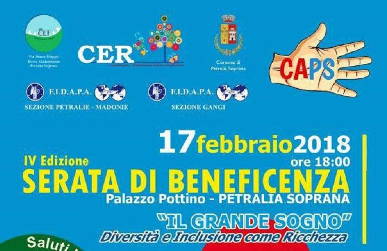 """Petralia Soprana, sabato 17 lo spettacolo di beneficenza """"Il grande sogno"""""""