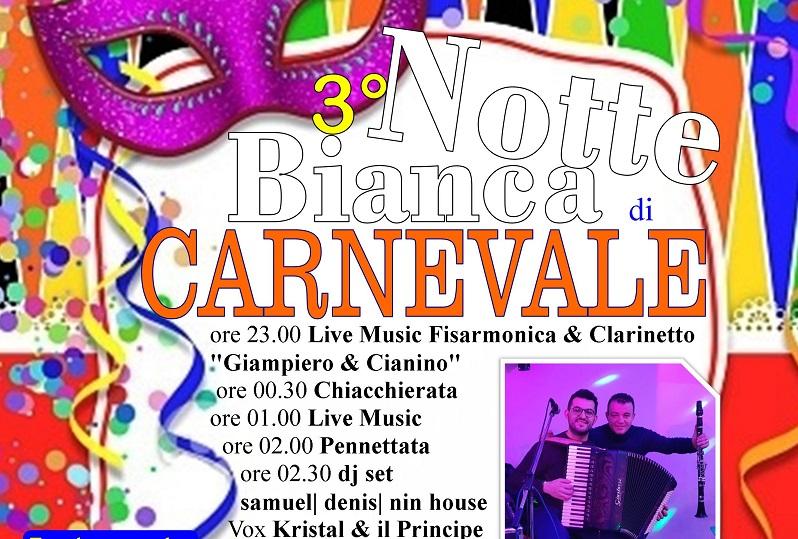 A San Mauro Castelverde la terza notte bianca del Carnevale – IL PROGRAMMA