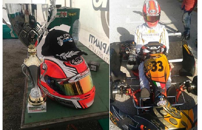 Kart, il giovane Antonio Damiani del Reparto Corse Real Cefalù, conquista la sua prima vittoria