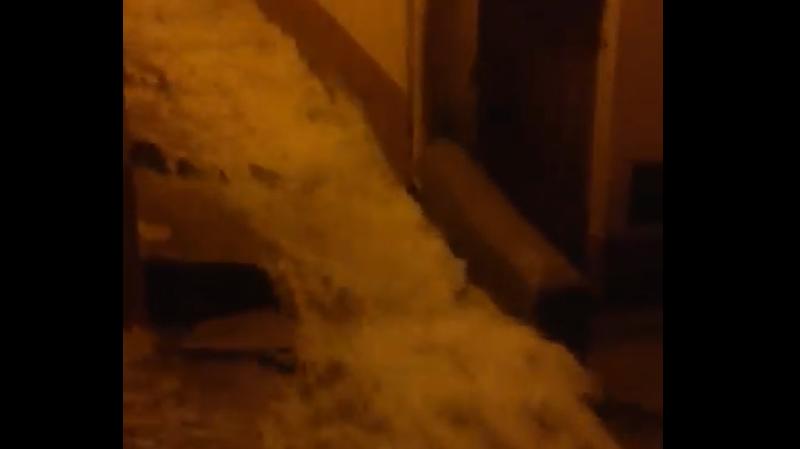 Nubifragio a Gangi, le strade diventano fiumi in piena – IL VIDEO
