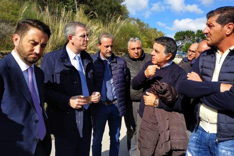 Il disastro delle strade madonite, sopralluogo dell'assessore Falcone a Caltavuturo