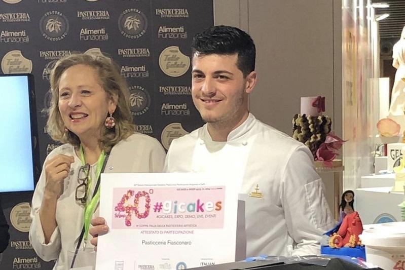 Sigep, a Rimini un premio per la torta artistica al pasticciere Mario Fiasconaro