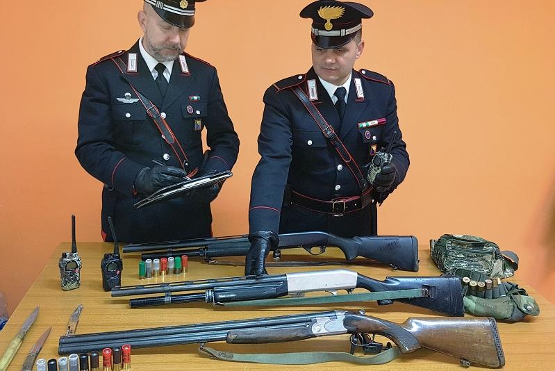 Sorpresi a cacciare in un'area protetta e con armi non dichiarate: in manette tre uomini di Caccamo