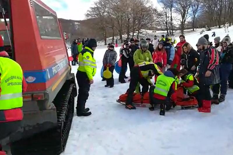 Piano Battaglia, sei interventi di soccorso per incidenti sulla neve