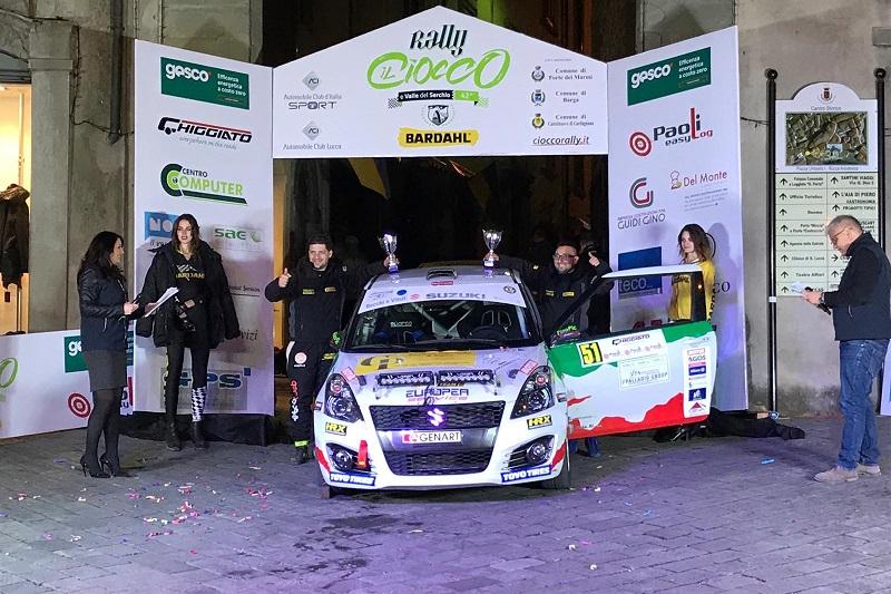 Rally del Ciocco, inizio di campionato dolce e amaro per gli equipaggi madoniti