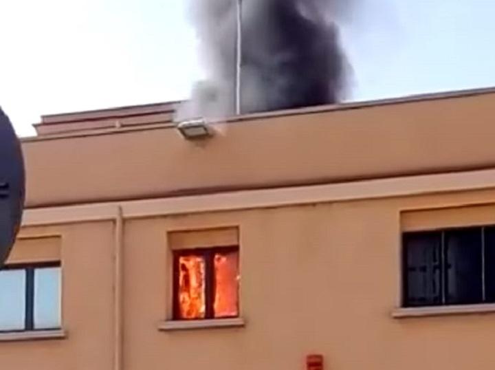 Termini Imerese, incendio nella sede dell'Agenzia delle Entrate