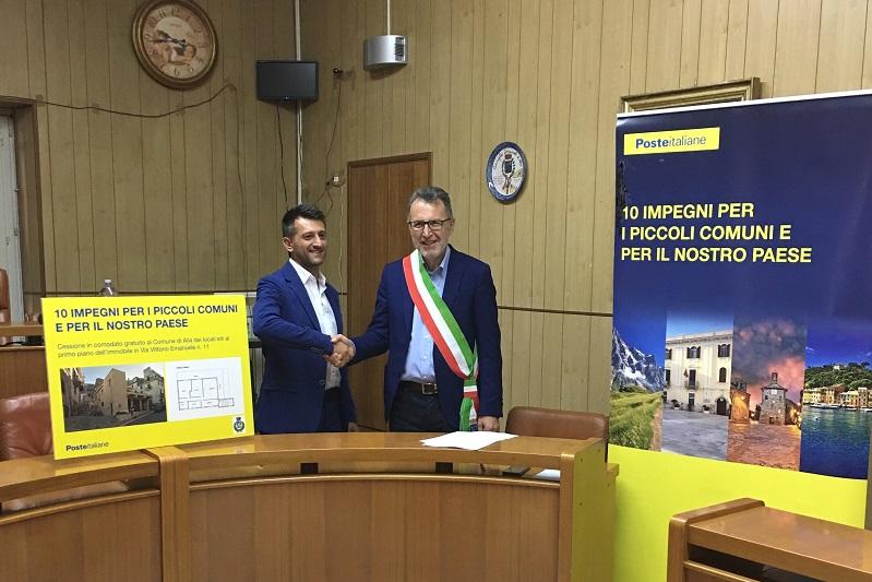Alia, Poste Italiane cede in comodato d'uso un locale al comune