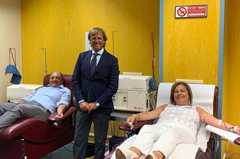 Emergenza sangue al Giglio, donano anche i dirigenti regionali