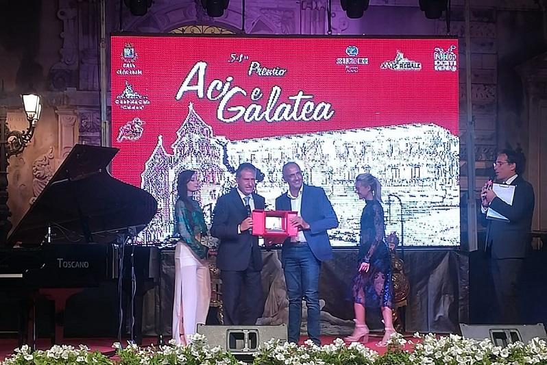 Il sindaco Pietro Macaluso tra i siciliani eccellenti del Premio Aci e Galatea