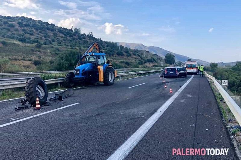 Auto piomba su cantiere Anas in autostrada: tre feriti a Scillato