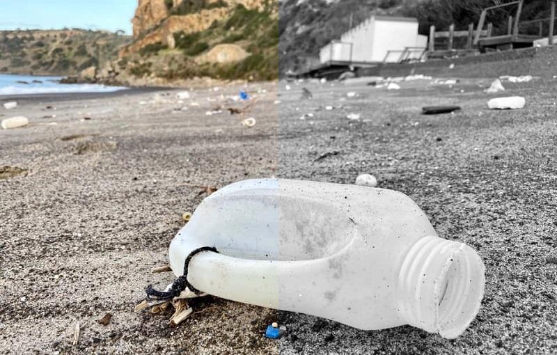 Pollina, la spiaggia di Torre Conca invasa dalla plastica