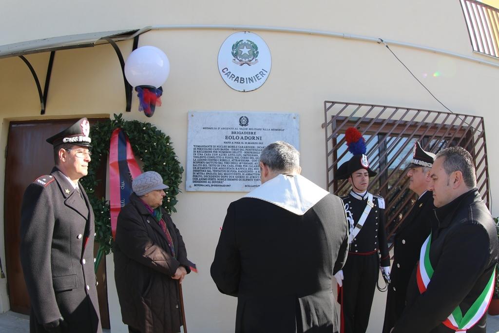La stazione dei carabinieri di Scillato intitolata al brigadiere Eolo Adorni