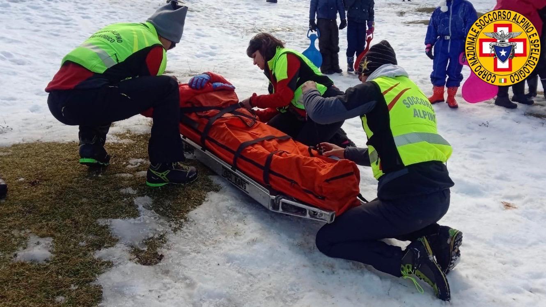Piano Battaglia, tre incidenti causati da slittini: gli interventi del Soccorso Alpino