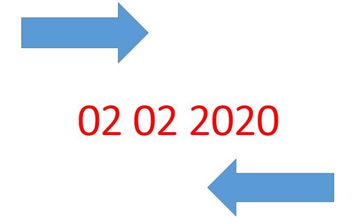 Oggi una data palindroma che si legge in entrambe le direzioni: una rarità