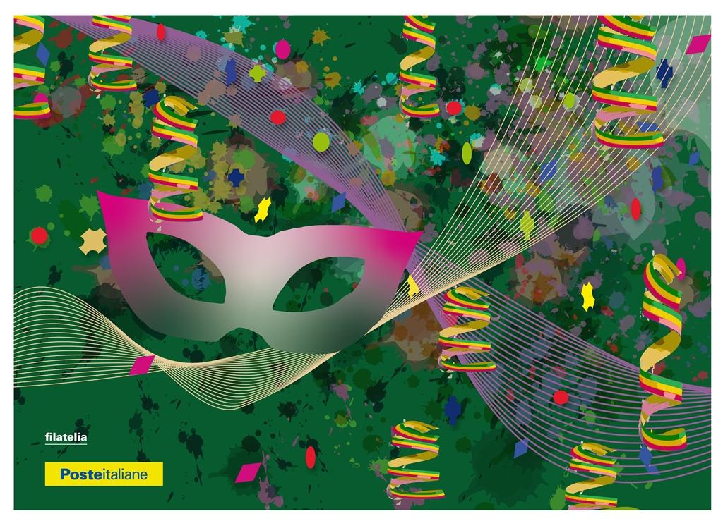 Poste italiane dedica due cartoline filateliche al carnevale 2020