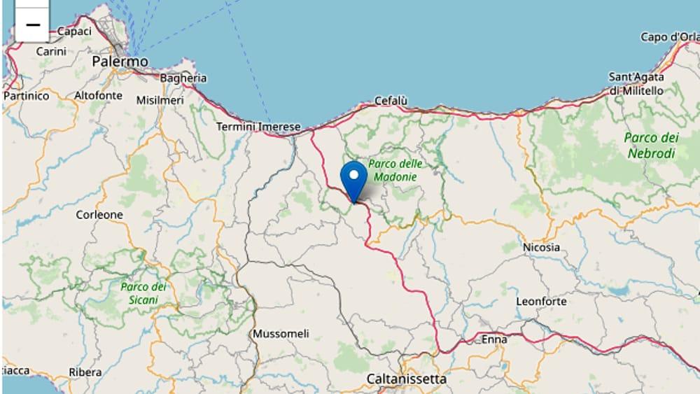 Terremoto nelle Madonie, epicentro tra Scillato e Caltavuturo