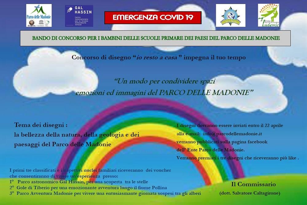 """""""Io resto a casa"""": il Parco delle Madonie lancia un concorso per i bambini madoniti"""