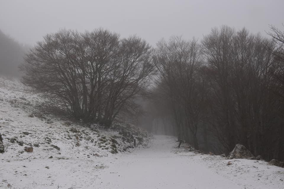 La neve a Piano Battaglia, ma gli impianti sono chiusi