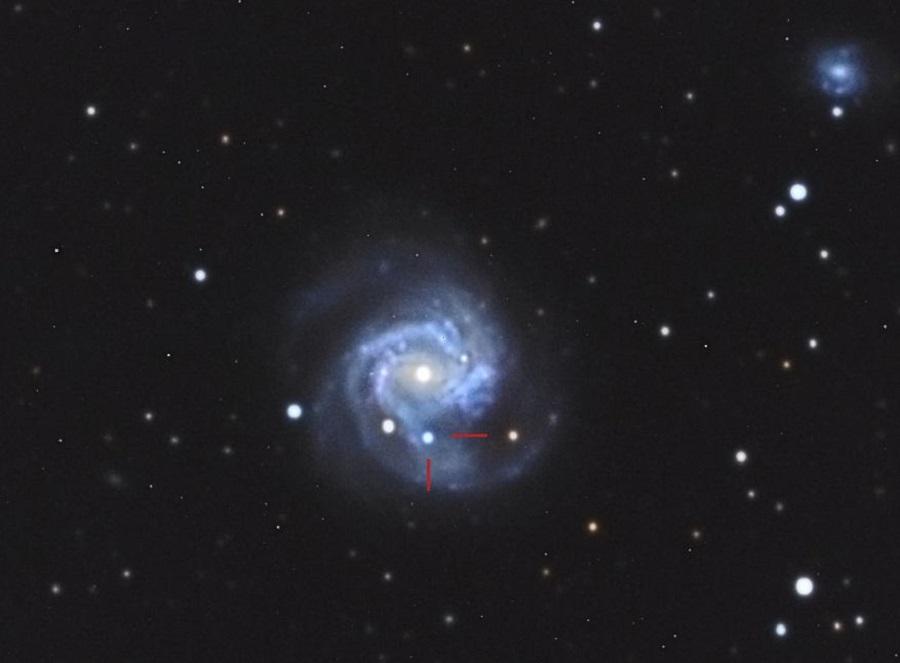 L'esplosione di una stella 52 milioni di anni fa: lo scatto al Gal Hassin