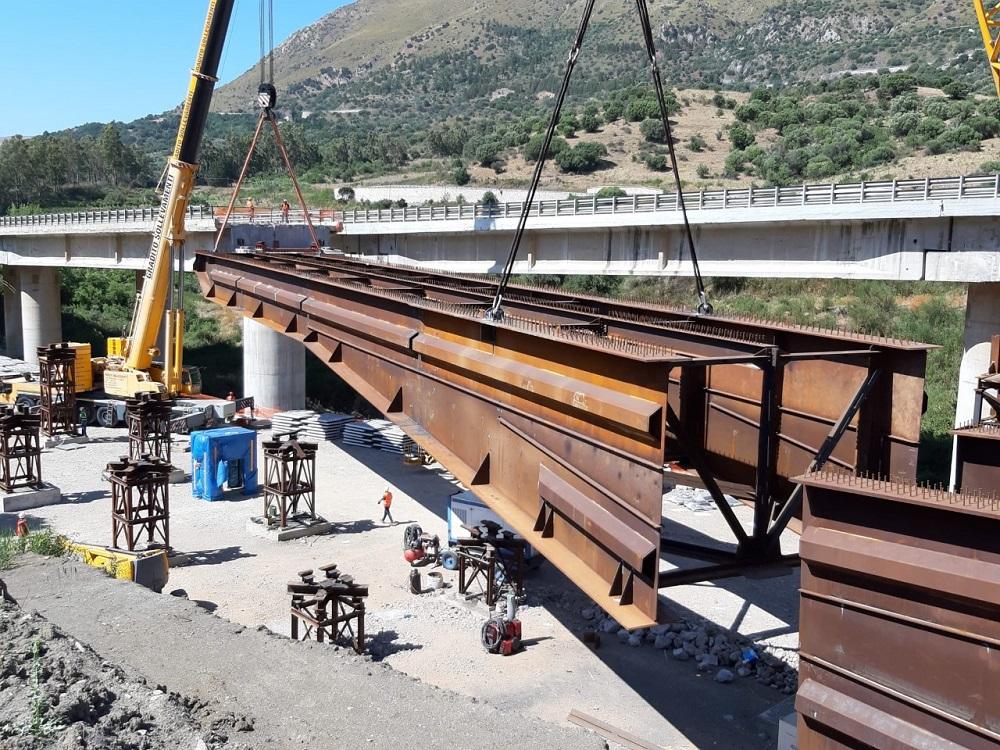 Giornata storica per il viadotto Himera: via al nuovo impalcato