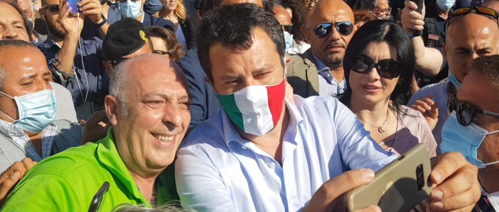 MATTEO SALVINI DIVIDE CEFALU'