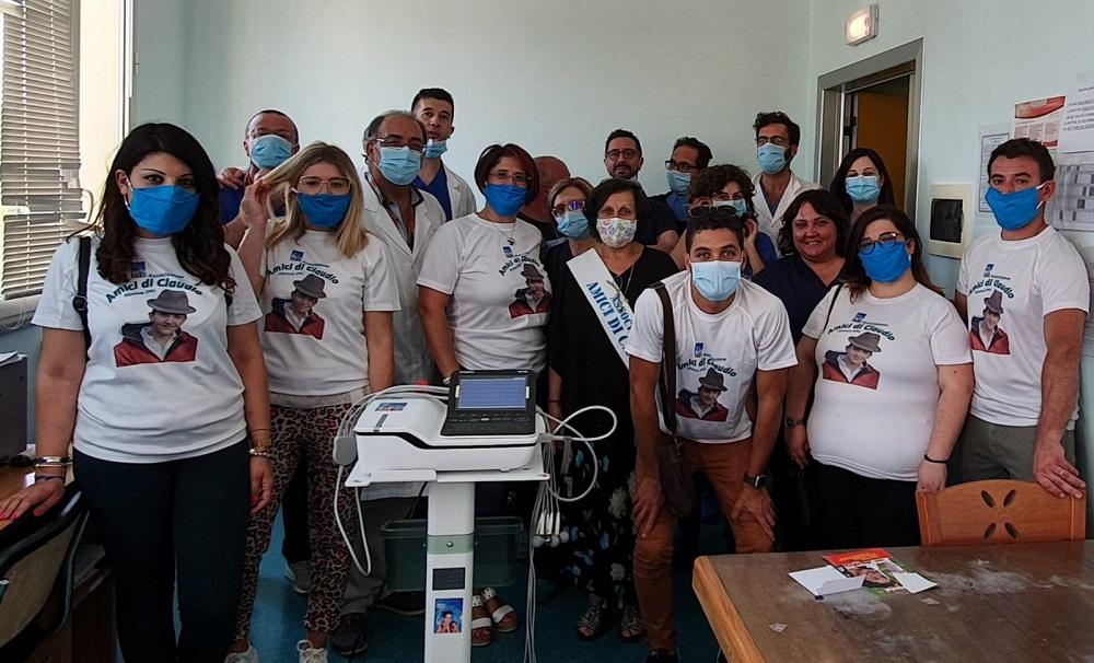 """Gli """"Amici di Claudio"""" donano elettrocardiografo al Sant'Elia"""