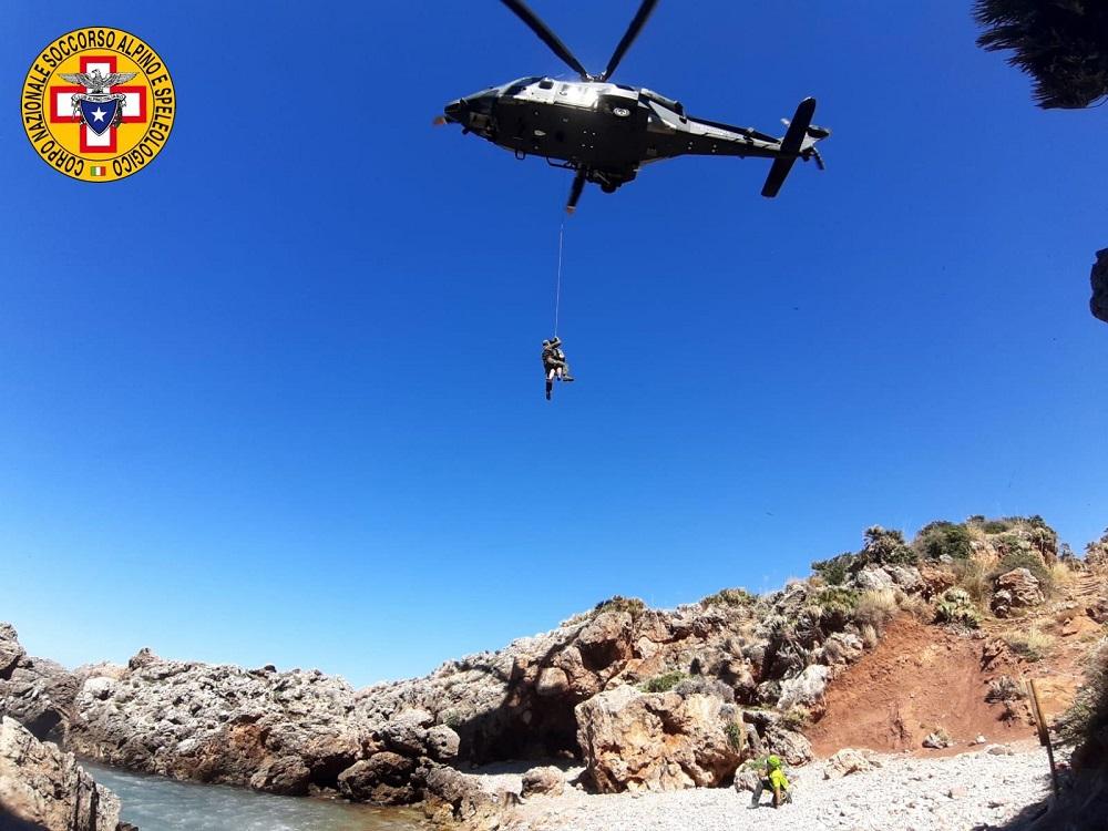 Il soccorso alpino Palermo-Madonie salva una turista ferito