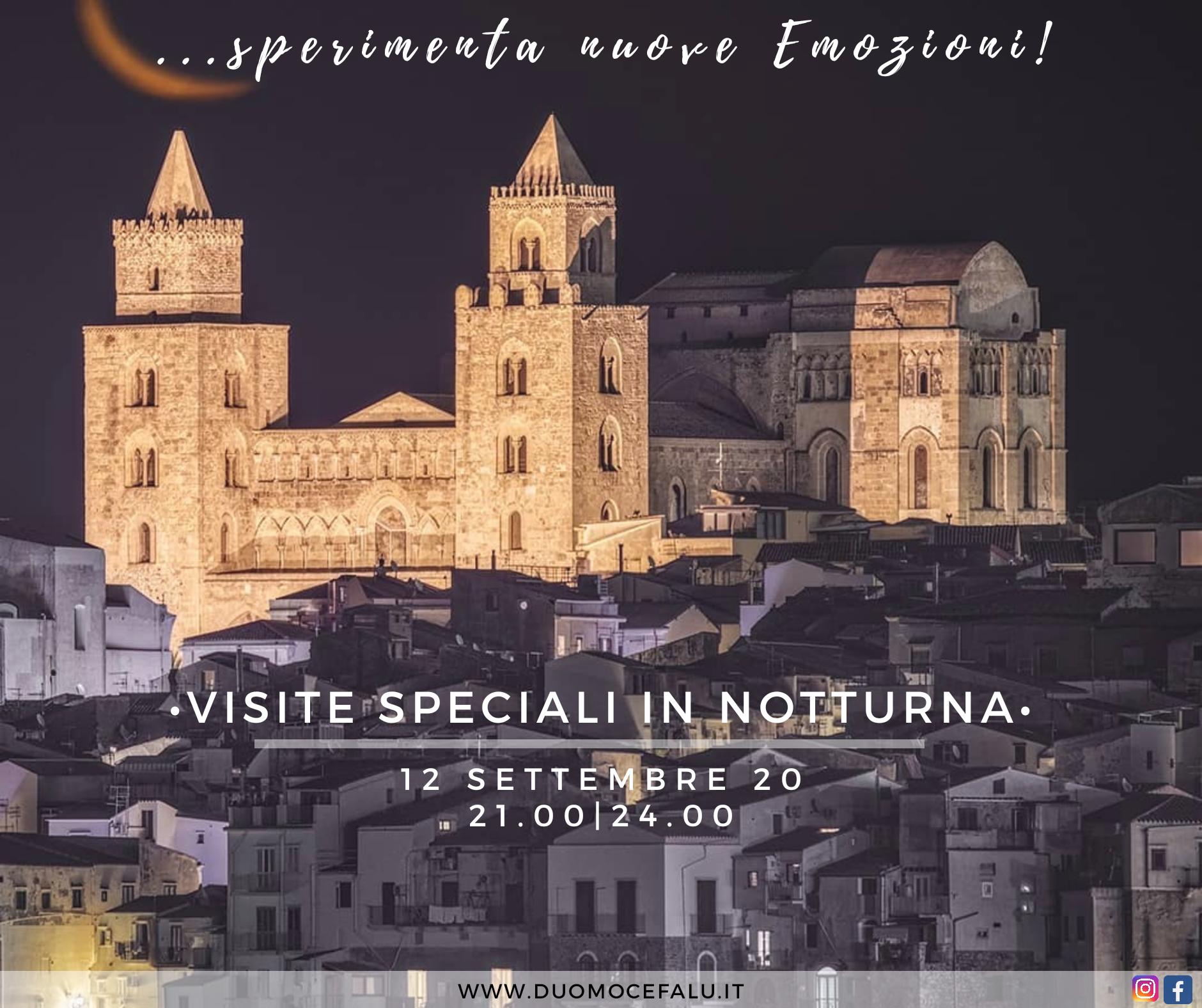 Torri della Cattedrale di Cefalù in notturna: altra occasione nel weekend