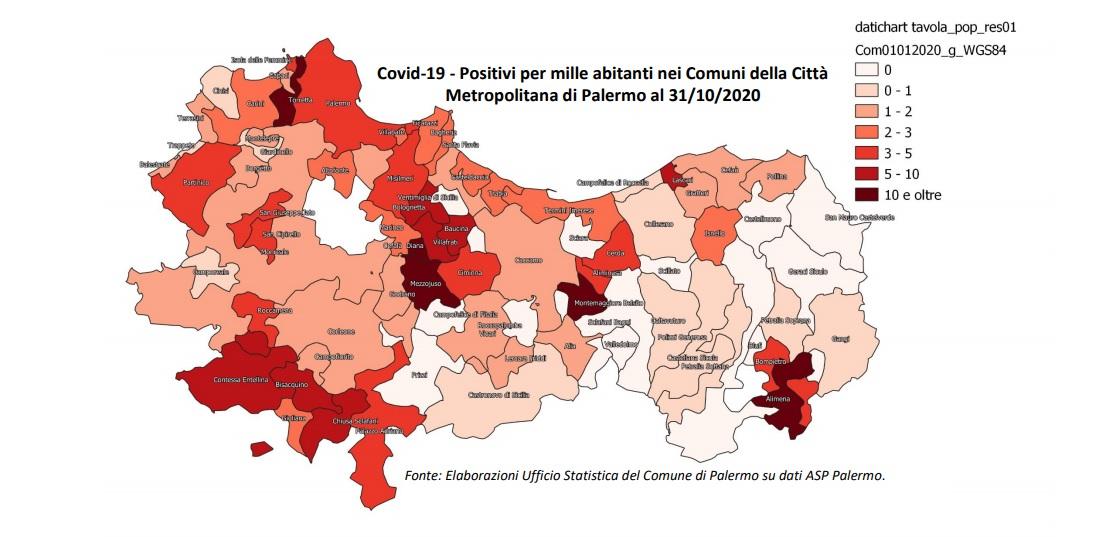 Madonie e Imerese oltre 300 casi accertati di Coronavirus