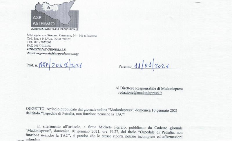"""Tac guasta a Petralia, l'Asp: """"Comprata una nuova, arriverà in estate"""""""
